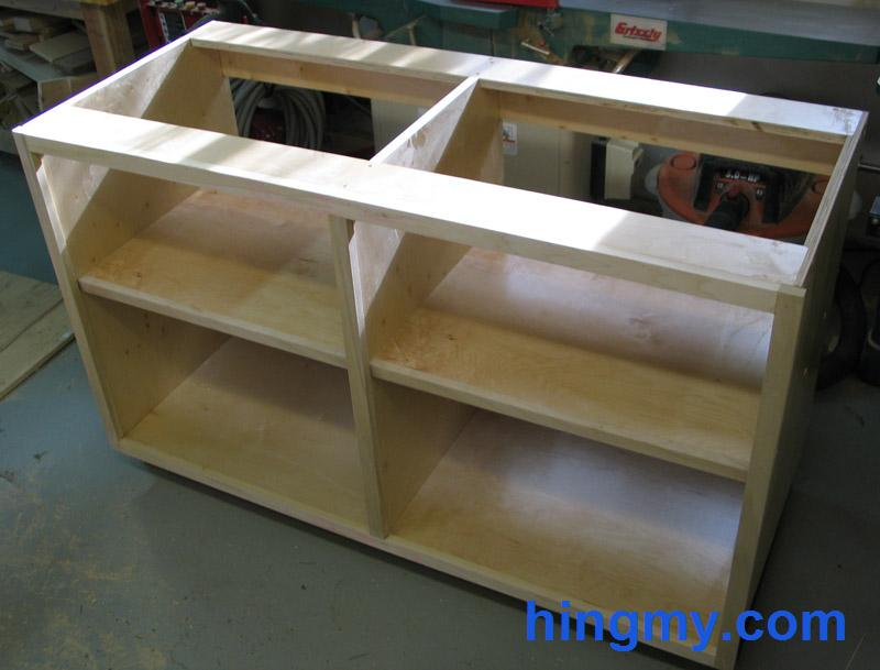 Building base cabinets for Building kitchen cabinets on site