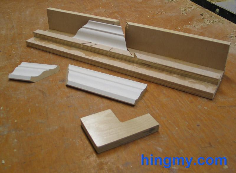 how to cut crown moulding for 135 degrees