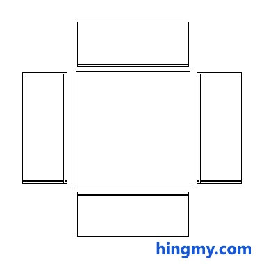Cabinet Calculator Layout diagram