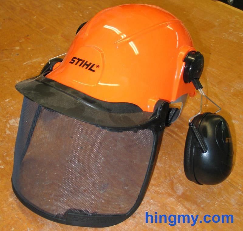 Bosch Set with Chainsaw Helmet Earmuff