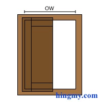 The Opening Width Is The Width Of The Opening Measured To The Face Frame  Without Any Gap.