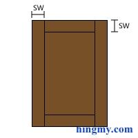 Cabinet Door/Raised Panel Calculator